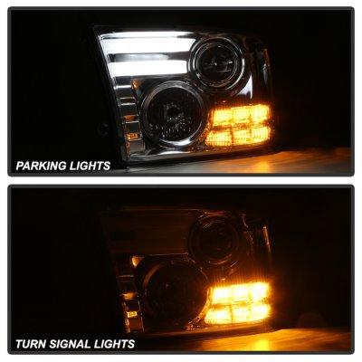 Dodge Ram 2010-2018 Clear Projector Headlights Tube DRL