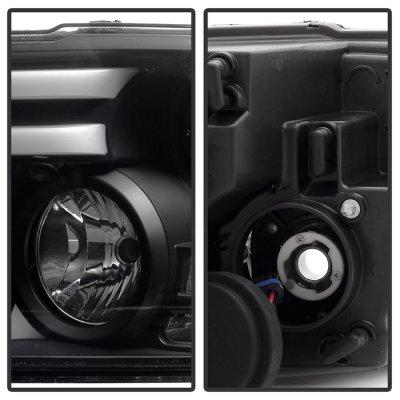 Dodge Ram 2013-2017 Black HID Projector Headlights Tube DRL