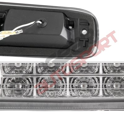 Chevy Silverado 2500HD 2001-2006 Clear Full LED Third Brake Light with Cargo Light