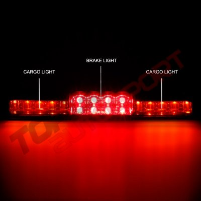 Chevy Silverado 1999-2006 Red Full LED Third Brake Light with Cargo Light