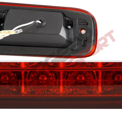 Chevy Silverado 1999-2006 Red Full LED Third Brake Light with Cargo Light