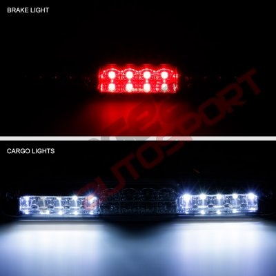 Chevy Silverado 2500HD 2001-2006 Smoked Full LED Third Brake Light with Cargo Light