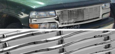 Chevy Silverado 1999-2002 Chrome Wave Billet Grille