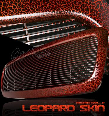 Dodge Durango 1998-2003 Red Leopard Skin Billet Grille