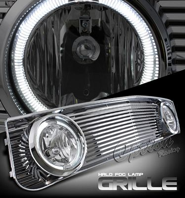 Ford Mustang 2005-2009 Billet Grille and Halo Fog Lights Combo Kit