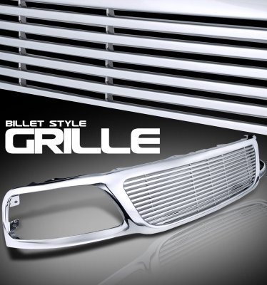 2002 Ford F150 Chrome Billet Style Grille
