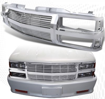 chevy tahoe 1995 1999 chrome billet grille shell. Black Bedroom Furniture Sets. Home Design Ideas