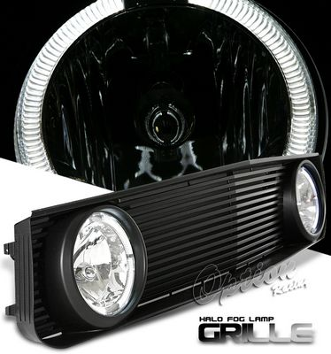 Ford Mustang V6 2005-2009 Black GT Style Grille and Halo Fog Lights