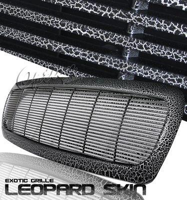 Dodge Dakota 1997-2004 Black Leopard Skin Billet Grille