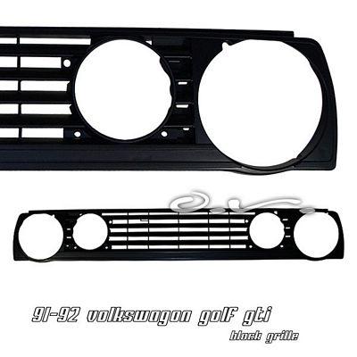 VW Golf 1990-1992 Black Billet Grille