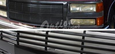 Chevy Silverado 1994 1998 Black Billet Grille