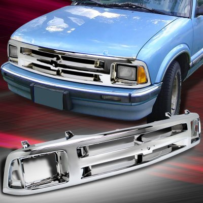 Chevy Blazer 1995-1997 Chrome Replacement Grille