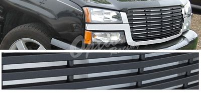 Chevy Silverado 2003-2005 Chrome Trim Black Billet Grille