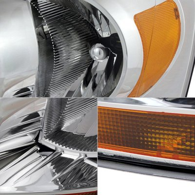 Dodge Ram 2006-2008 Clear Headlights Amber Bar
