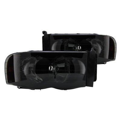 Dodge Ram 2002-2005 Black Smoked Headlights