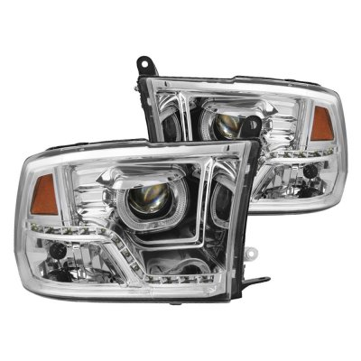 Dodge Ram 1500 2009 2017 Clear Halo Projector Headlights Led Drl A103zcei101 Topgearautosport