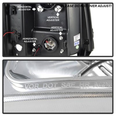 Chevy Silverado 2500HD 2007-2013 Clear Projector Headlights LED DRL Facelift