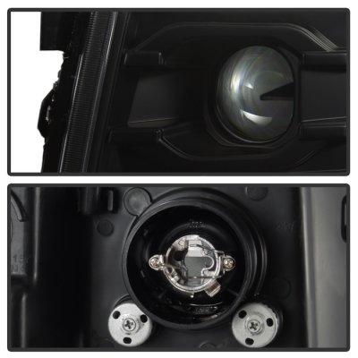 Chevy Silverado 2500HD 2007-2014 Black Projector Headlights DRL Tube Facelift