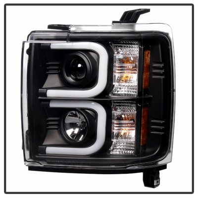 Chevy Silverado 2500HD 2015-2016 Black Projector Headlights LED DRL