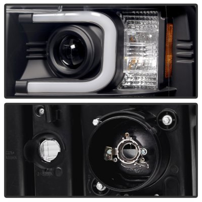 Chevy Silverado 2500HD 2015-2019 Black Projector Headlights LED DRL