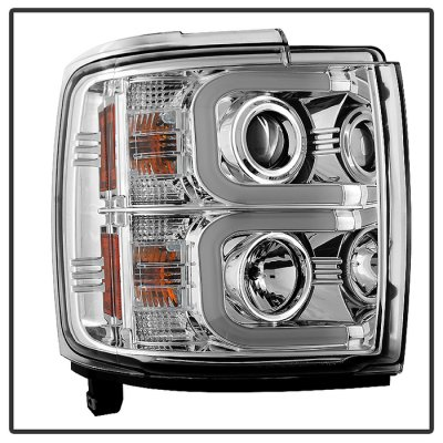 Chevy Silverado 2500HD 2015-2016 Clear Projector Headlights LED DRL
