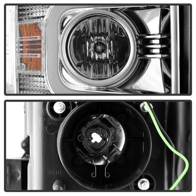 Chevy Silverado 2500HD 2015-2016 Clear Projector Headlights LED DRL