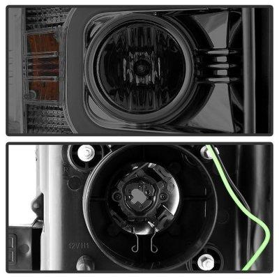 Chevy Silverado 2500HD 2015-2016 Smoked Projector Headlights LED DRL