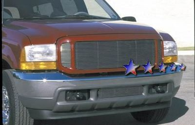 Ford F350 Super Duty 1999-2004 Polished Aluminum Billet Grille