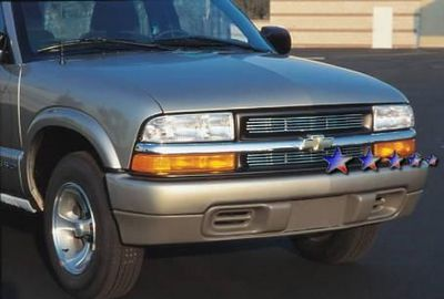 Chevy S10 1998 2004 Polished Aluminum Billet Grille
