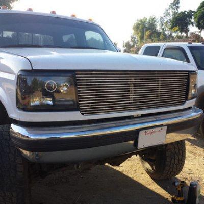 Ford F150 1992 1997 Polished Aluminum Billet Grille