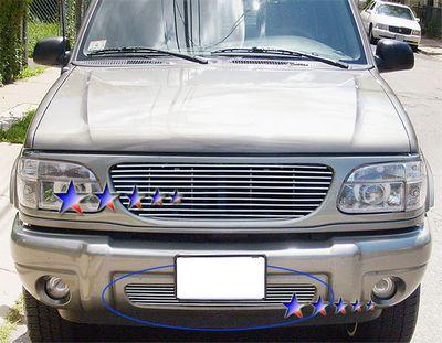 ford explorer 1999-2001 polished aluminum lower bumper billet grille