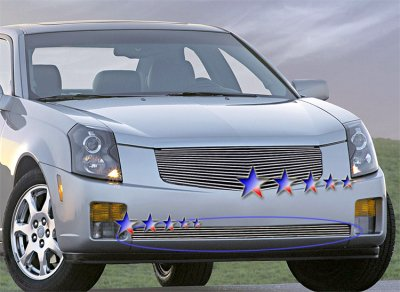 Cadillac CTS 2003-2007 Polished Aluminum Lower Bumper Billet Grille