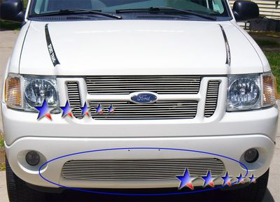 Ford Explorer Sport Trac 2001 2005 Polished Aluminum Lower Per Billet Grille A127udqt150 Topgearautosport