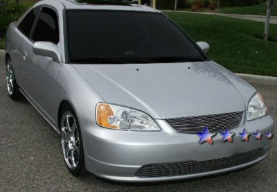 Honda Civic Coupe 2001 2002 Aluminum Billet Grille