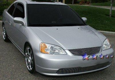 Dodge Ram Bull Bar >> Honda Civic Coupe 2001-2002 Aluminum Billet Grille ...