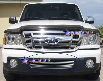 ford ranger 2006 2012 aluminum lower bumper billet grille. Black Bedroom Furniture Sets. Home Design Ideas