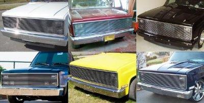 Chevy C10 Pickup 1981-1987 Polished Aluminum Phantom Billet Grille