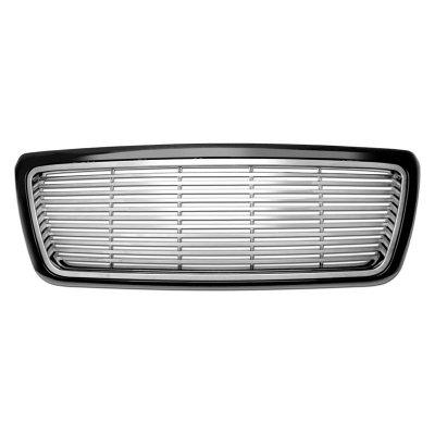 Ford F150 2004-2008 Silver Billet Grille Black Frame