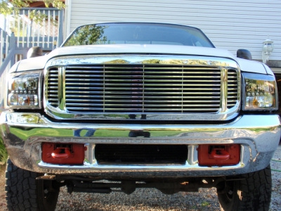 Ford F350 Super Duty 1999 2004 Front Grill Chrome Billet