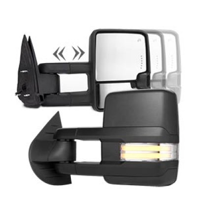 Chevy Silverado 2500HD 2007-2014 Towing Mirrors Clear Tube Signal Power Heated