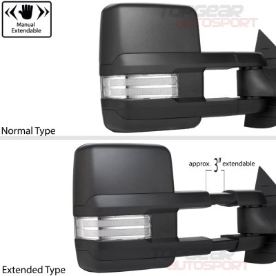 Chevy Suburban 2007-2014 Towing Mirrors Clear LED DRL Power Heated