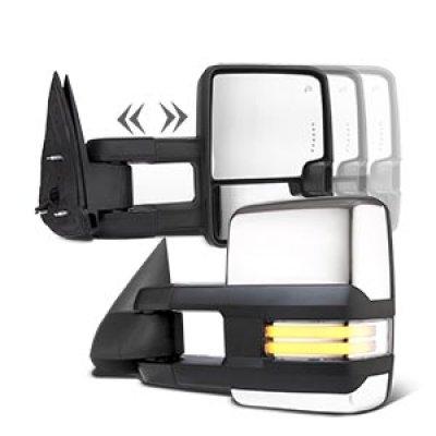 Cadillac Escalade 2003-2006 Chrome Towing Mirrors Clear Tube Signal Power Heated