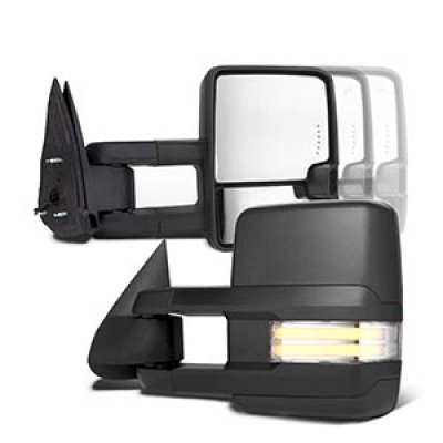 GMC Jimmy Full Size 1992-1994 Power Towing Mirrors Clear Tube Signal Lights