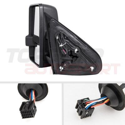 Chevy Silverado 2014-2018 Towing Mirrors Clear Tube Signal Power Heated