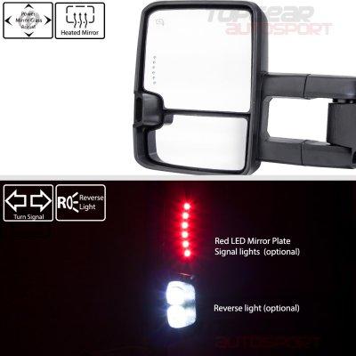 GMC Sierra 2014-2018 Chrome Towing Mirrors Clear Tube Signal Power Heated