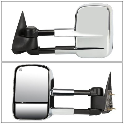 Chevy Silverado 2500HD 2001-2002 Chrome Towing Mirrors Power Heated