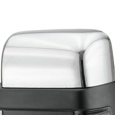 Ford F250 Super Duty 2008-2016 Chrome Towing Mirrors Power Heated Smoked LED Signal