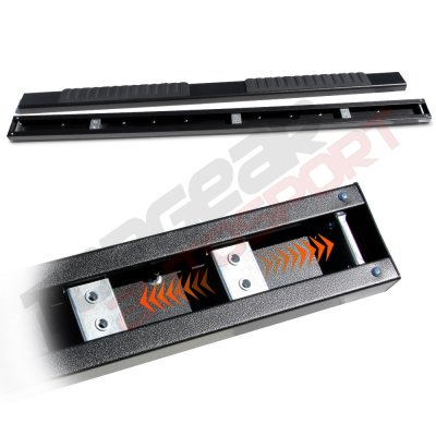 Chevy Silverado 2500HD Extended Cab 2001-2006 Running Boards Black 6 Inches