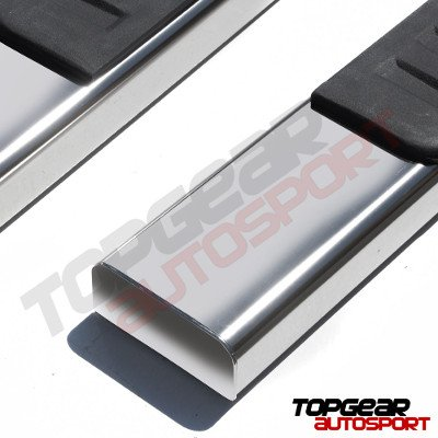 Chevy Silverado 2500HD Extended Cab 2001-2006 Running Boards Stainless 6 Inches