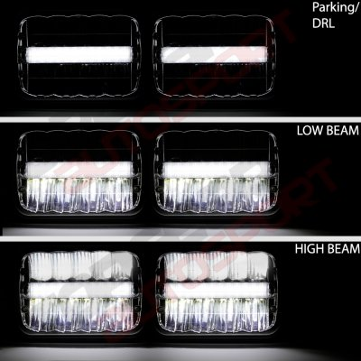Jeep Wrangler 1987-1995 DRL LED Seal Beam Headlight Conversion